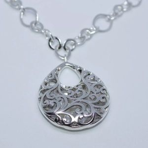 Lois Hill .925 Silver Necklace 17 inches